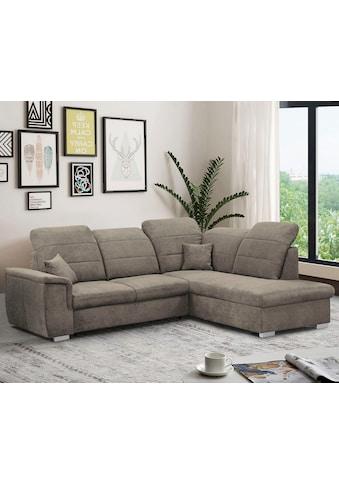 mokebo Ecksofa »Brindisi«, Sofa mit verstellbaren Kopfteilen, wahlweise Schlaffunktion... kaufen