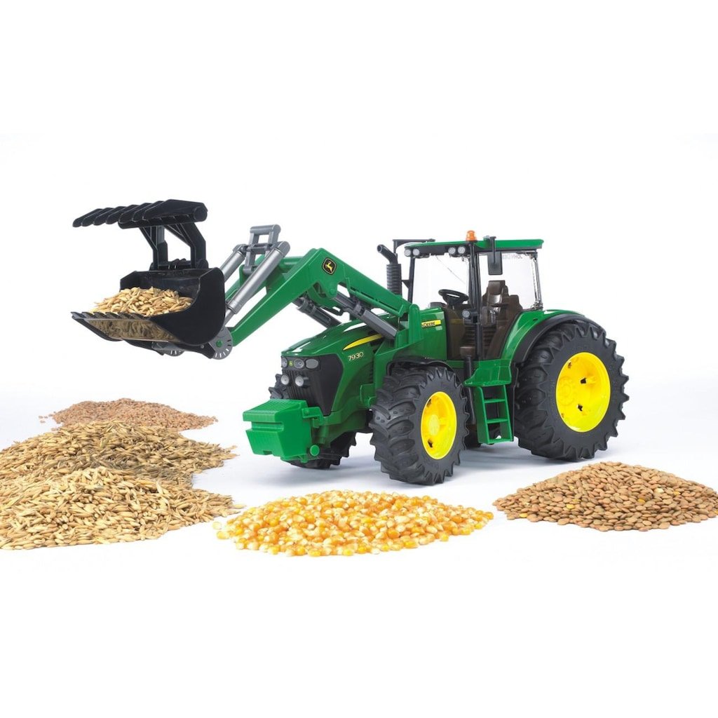 Bruder® Spielzeug-Traktor »John Deere 7930 mit Frontlader, 1:16, grün«, Made in Europe