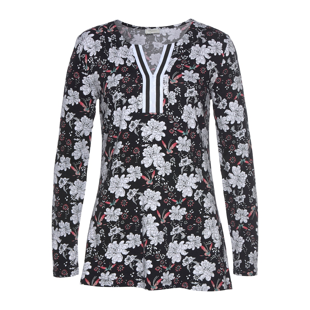 Boysen's Longshirt, mit Blumendruck