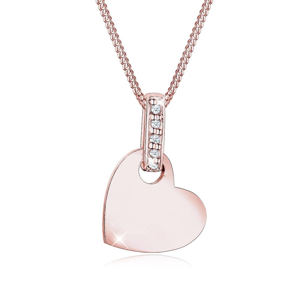 Diamore Collierkettchen »Herz Liebe Diamant (0.025 ct.) 925 Silber«