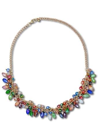 J.Jayz Collier »mit farbenfrohen Tropfenanhängern«, mit Glassteinen kaufen
