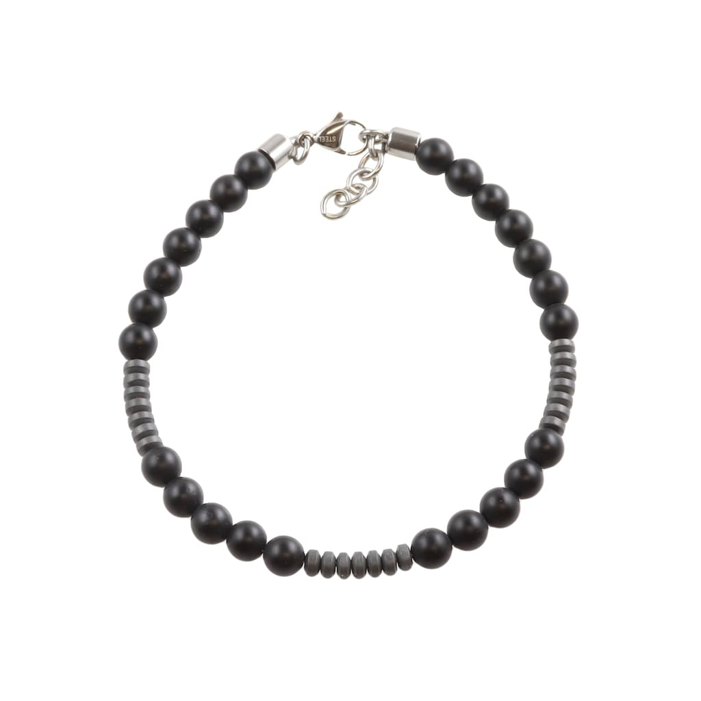 Firetti Armband »mit glänzenden Rondellen«, mit Onyx und Hämatit, Made in Germany