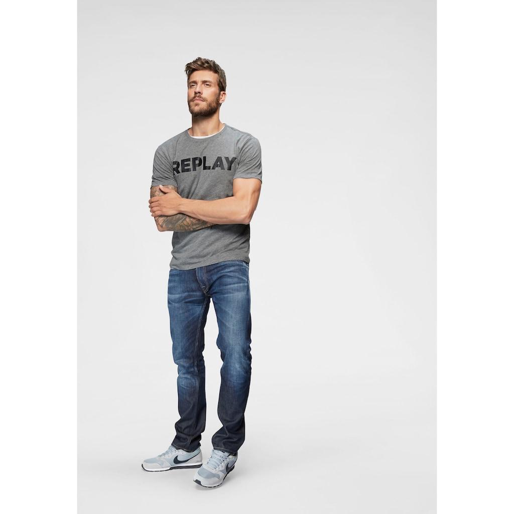 Replay T-Shirt, Markenfrontprint