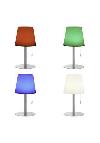Brilliant Leuchten Außen-Tischleuchte, Punto LED Außentischleuchte weiß/grau kaufen