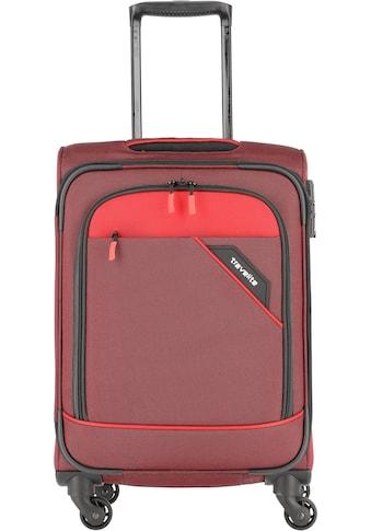 """travelite Weichgepäck - Trolley """"Derby, 55 cm, rot"""", 4 Rollen kaufen"""
