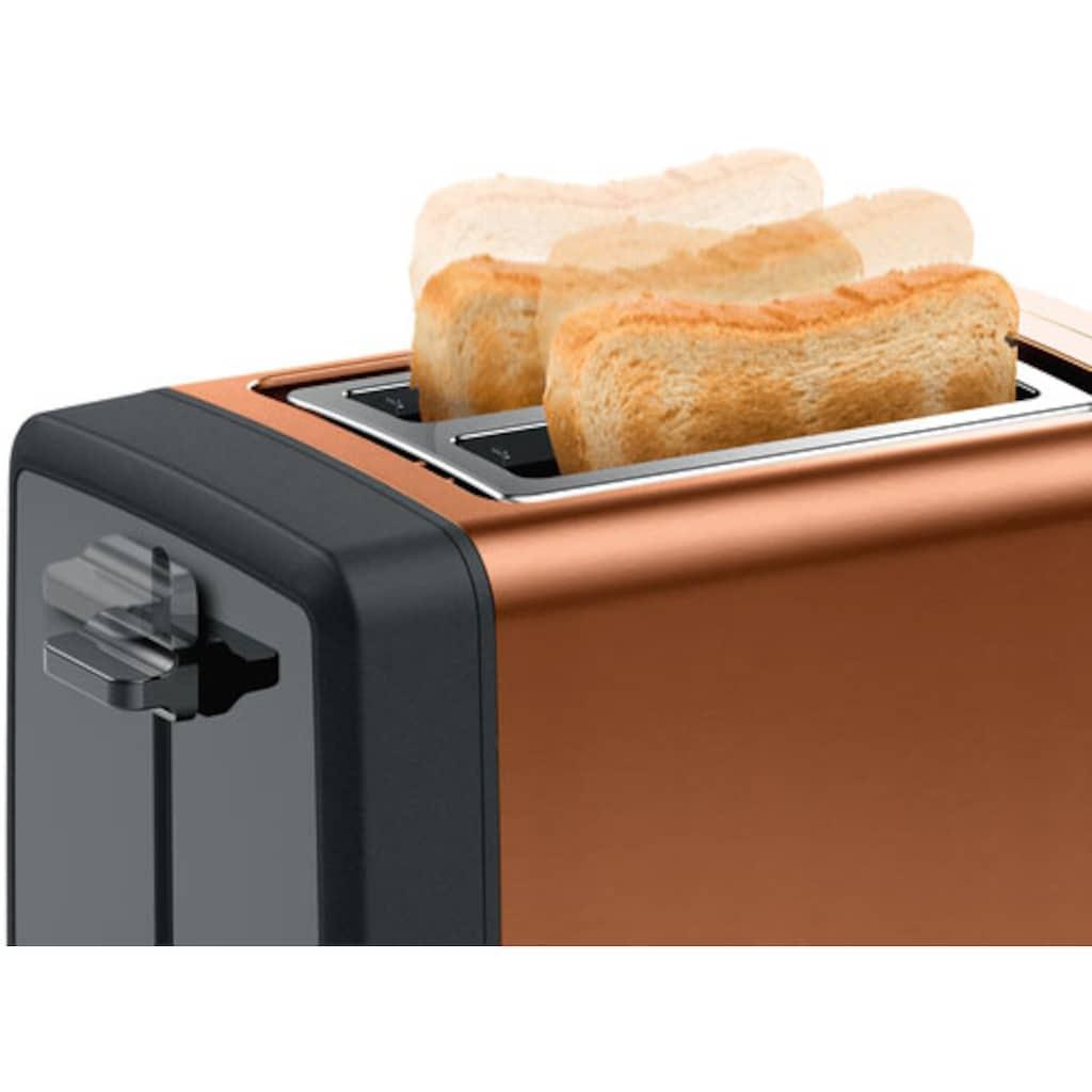 BOSCH Toaster »TAT4P429 DesignLine«, 2 kurze Schlitze, 970 W