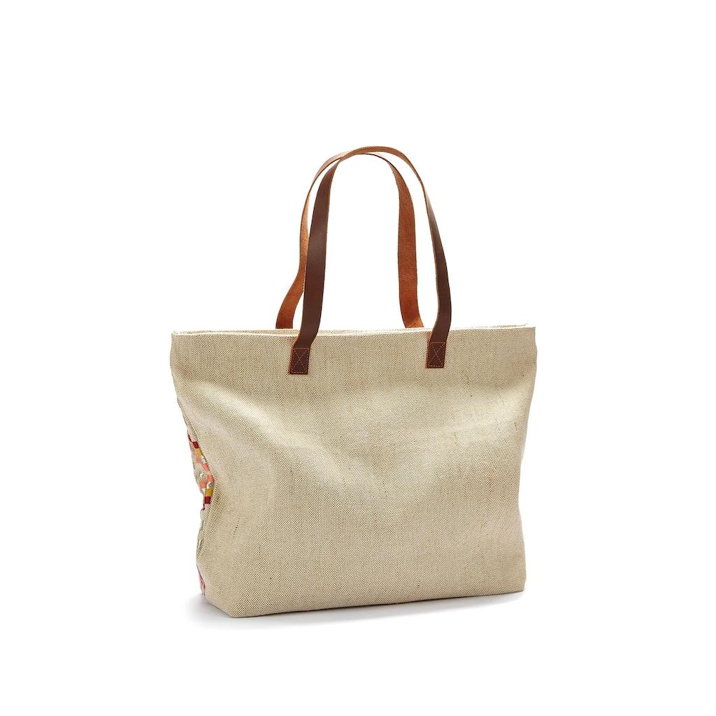 LASCANA Umhängetasche, Strandtasche mit Bestickung