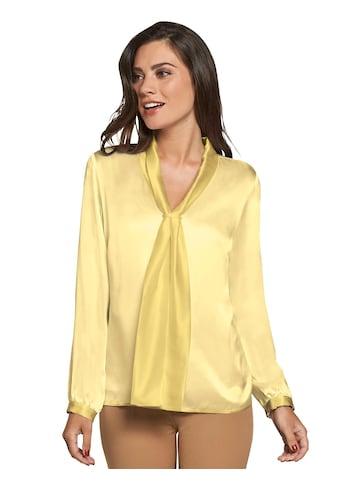 Lady Seiden - Bluse mit elegantem Schalkragen kaufen