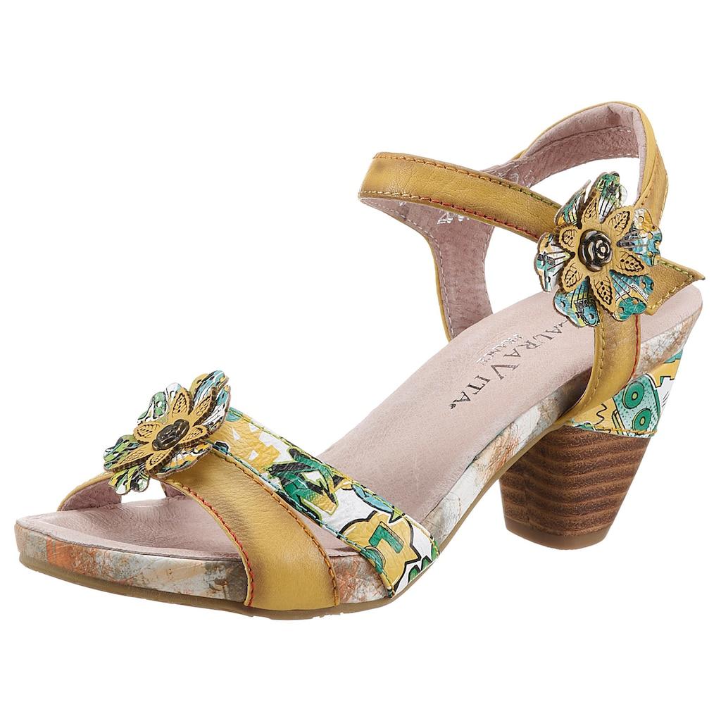 LAURA VITA Sandalette »DACXO«, mit schöner Blütenapplikation