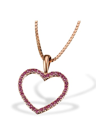 goldmaid Collier Red Heart 375 Rotgold 30 Rubine 0,18 ct. kaufen