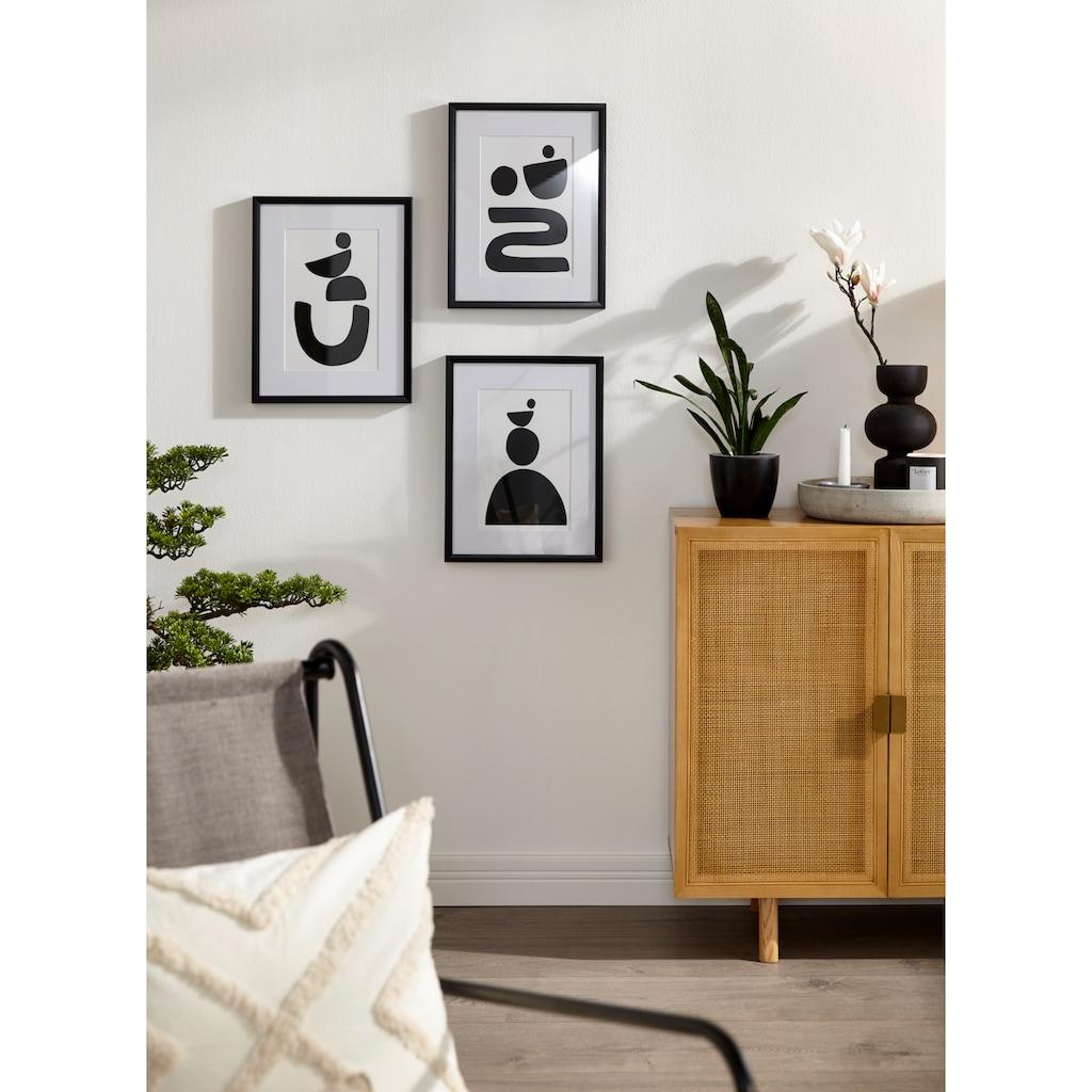 LeGer Home by Lena Gercke Sideboard »Lina«, Mit Rattan Einsatz, 4 Innenfächer, teilmassiv