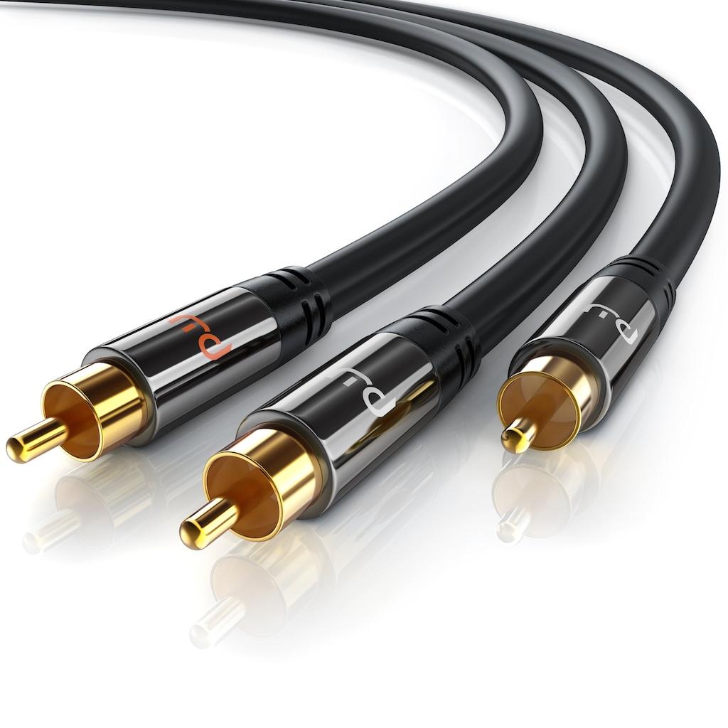 Primewire Y-Cinch HiFi Audio-Kabel mehrfach geschirmt »2x Cinch zu 1x Cinch / Premium Series«
