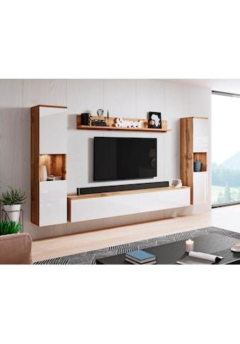 my home Wohnwand »PARIS«, (Set, 4 St.), hängend und stehend montierbar kaufen