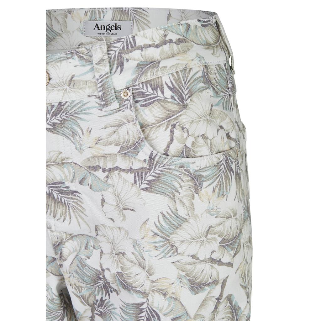 ANGELS 7/8-Jeans, 'Cici' mit floralem Allover-Muster