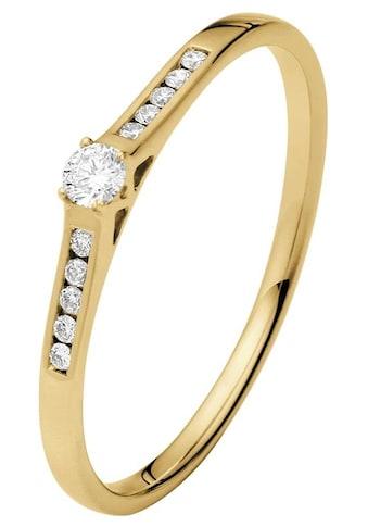 Firetti Diamantring »Verlobungsring«, mit Brillanten in Krappenfassung und Kanalfassung kaufen