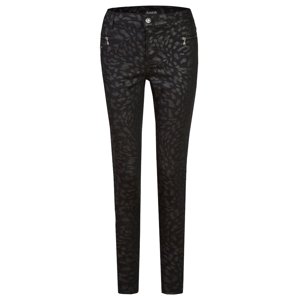 ANGELS Jeans,Malu Zip' mit Allover-Muster