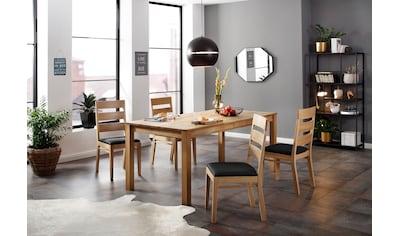 Home affaire Essgruppe »Soeren 4«, (Set, 5 tlg., Tisch 180/90 cm, 4 Stühlen,... kaufen