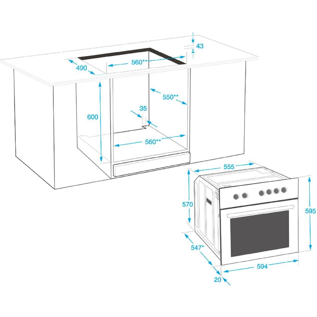 BEKO Elektro-Herd-Set »BUM22325XP«, mit Restwärmeanzeige
