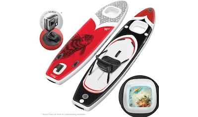 Sportstech Inflatable SUP-Board »WBX_REDFIREFISH«, (Set, 9 tlg., mit Paddel, Pumpe, Transportrucksack und Sitz), Sichtfenster kaufen