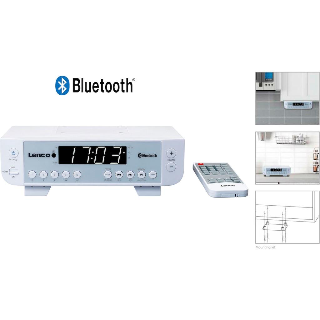 Lenco Küchen-Radio »KCR-100«, (Bluetooth FM-Tuner 2 W)