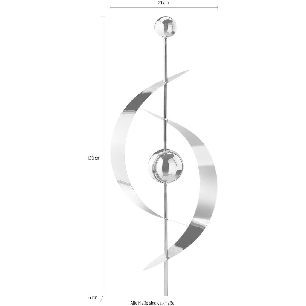 locker Deko-Windrad »Saturn«, aus Edelstahl 130 cm
