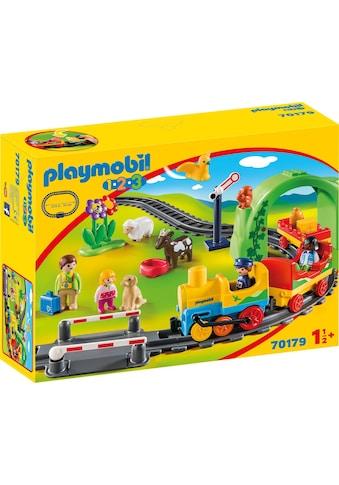 "Playmobil® Konstruktions - Spielset ""Meine erste Eisenbahn (70179), Playmobil 1 - 2 - 3"", Kunststoff kaufen"