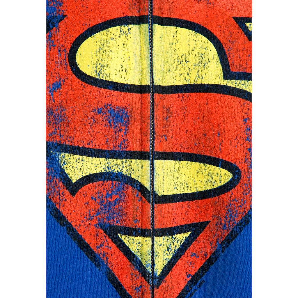 LOGOSHIRT Sweatjacke »Superman-Logo«, mit coolem Heldenmotiv