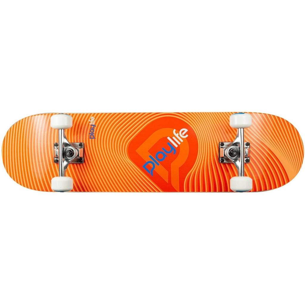 Playlife Skateboard »Illusion Orange«