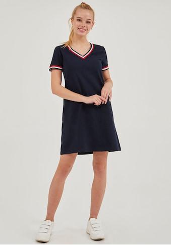 LTB Sommerkleid »CIMEKOF«, mit bunten Streifendetails und V-Ausschnitt kaufen