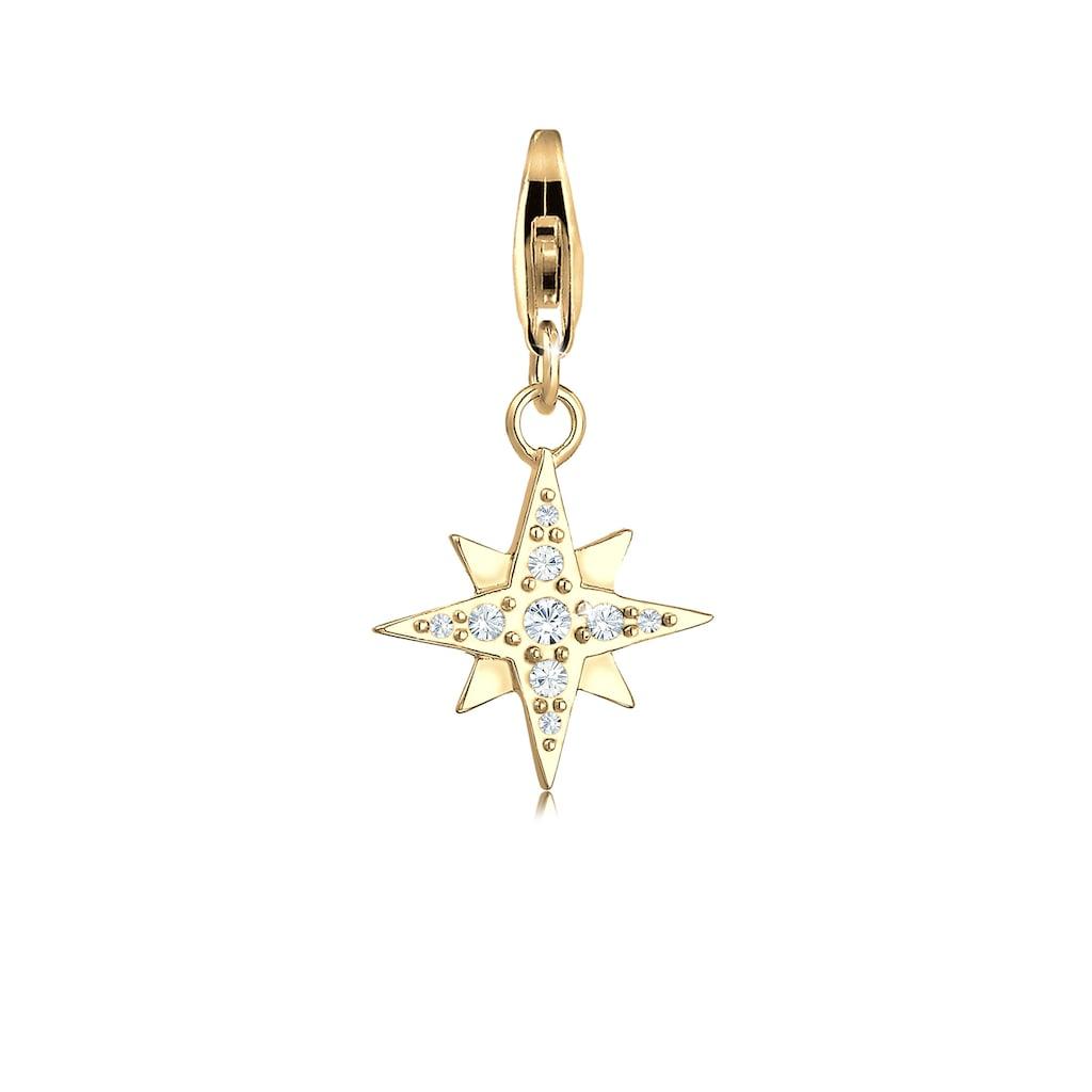 Nenalina Charm-Einhänger »Stern Astro Kristalle Basic 925 Silber«