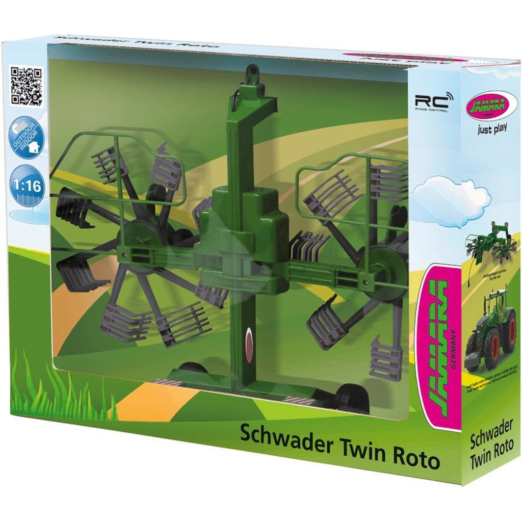 Jamara Spielfahrzeug-Anhänger »Schwader Twin Roto für Fendt 1050«, für RC-Traktor