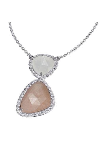 goldmaid Collier, 925/- Silber 2 Mondsteine 55 weiße Zirkonia kaufen