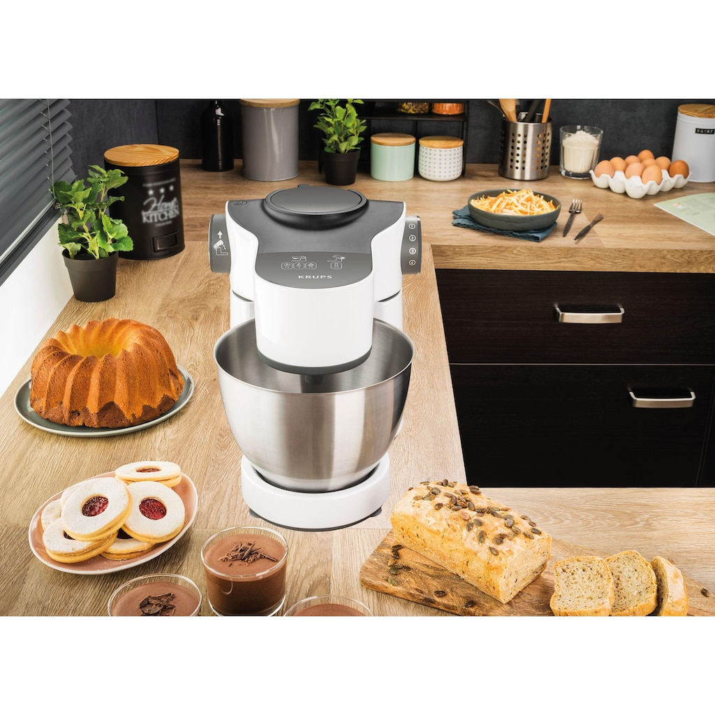 Krups Küchenmaschine »KA3121 Master Perfect«, 1000 W, 4 l Schüssel, mit umfangreichem Zubehör, 7 Geschwindigkeiten
