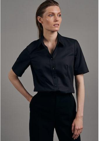 seidensticker Hemdbluse »Schwarze Rose«, Kurzarm Kragen Uni kaufen