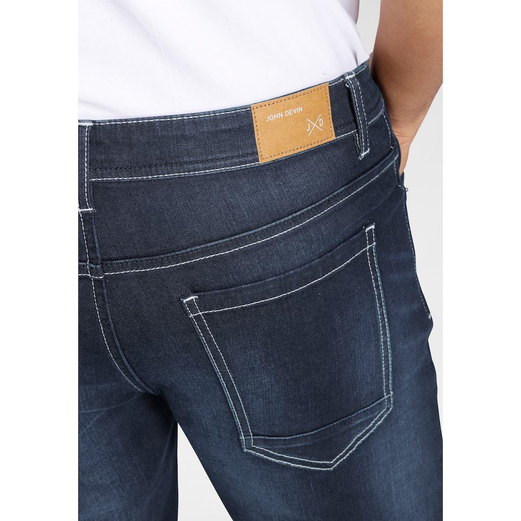 John Devin Straight-Jeans, mit Stretch