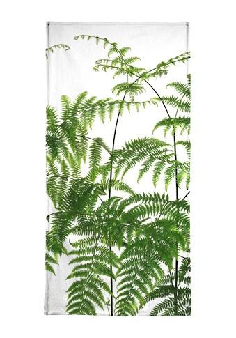 Juniqe Handtuch »Flora - Adlerfarn«, (1 St.), Weiche Frottee-Veloursqualität kaufen