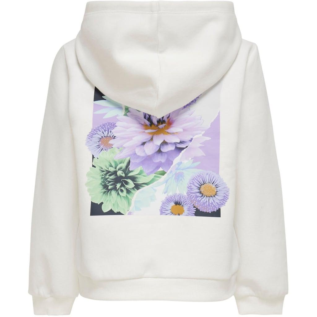 KIDS ONLY Kapuzensweatshirt »KONMELIA«, mit Blumen-Rückendruck