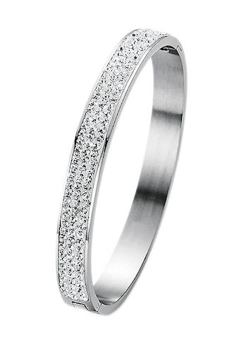 Firetti Armreif »oval, aufklappbar«, mit Kristallsteinen kaufen