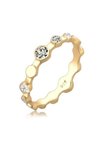 Elli Fingerring »Geo Color Kristalle 925 Silber Grigio« kaufen
