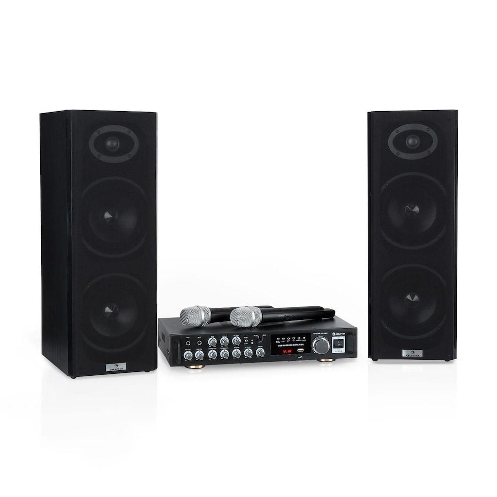 Auna 4 Karaoke-Set, 2 x 80 W max., BT, USB-Port, 2 »Karaoke Star«