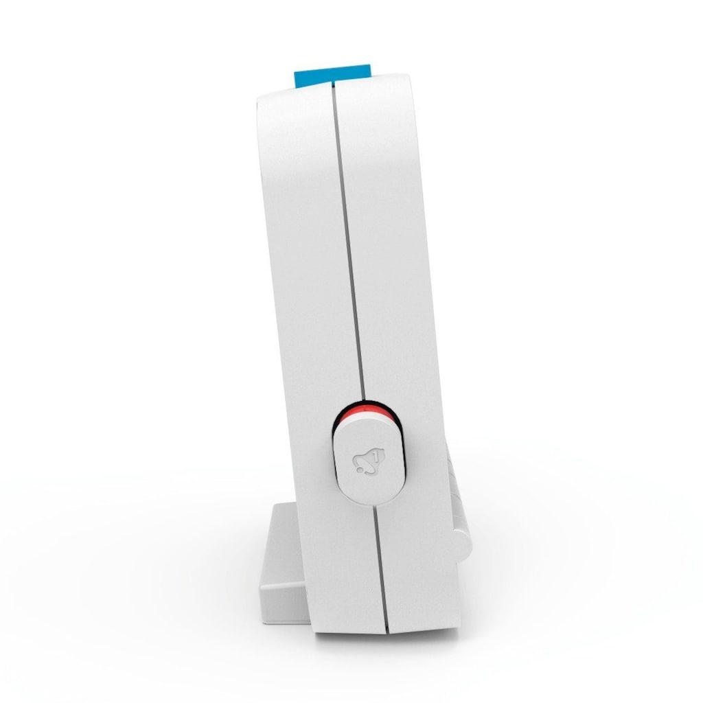 Hama Funkwecker Dual Alarm, 2 Weckzeiten, Lichtsensor, Weiß