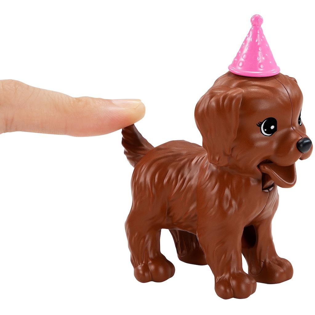Barbie Anziehpuppe »Hündchenparty und Puppe«, (Set)
