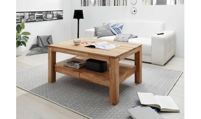 MCA furniture Couchtisch, Couchtisch Massivholz mit Schubladen kaufen