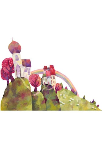 Wall-Art Wandtattoo »Märchenhaft Die Dorfkirche« kaufen