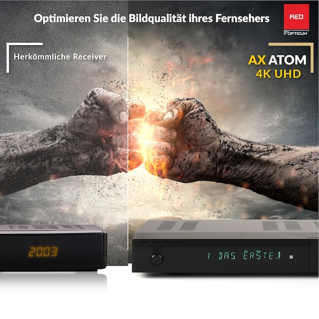 Opticum Red »Atom 4K UHD« SAT-Receiver