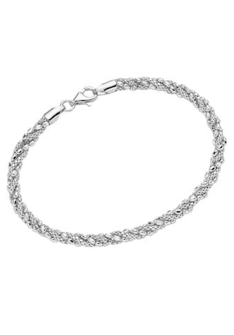 Firetti Silberarmband »rhodiniert, teilweise diamantiert« kaufen