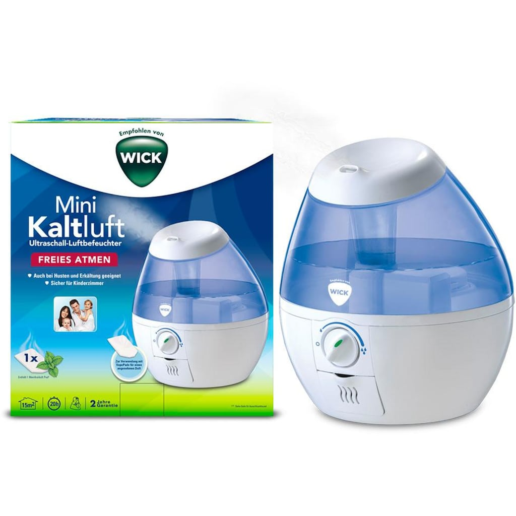 WICK Luftbefeuchter »WUL520«, 1,8 l Wassertank, Mini Kaltluft Ultraschall Luftbefeuchter