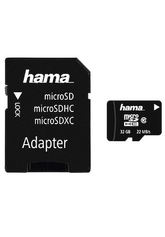 Hama microSDHC 32 GB Class 10, 22MB/s + Adapter/Mobile kaufen