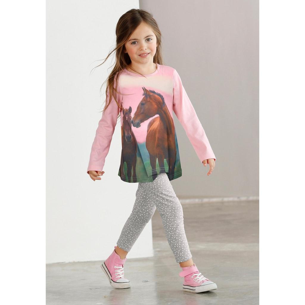Arizona Shirt & Leggings, mit Pferde-Motiv