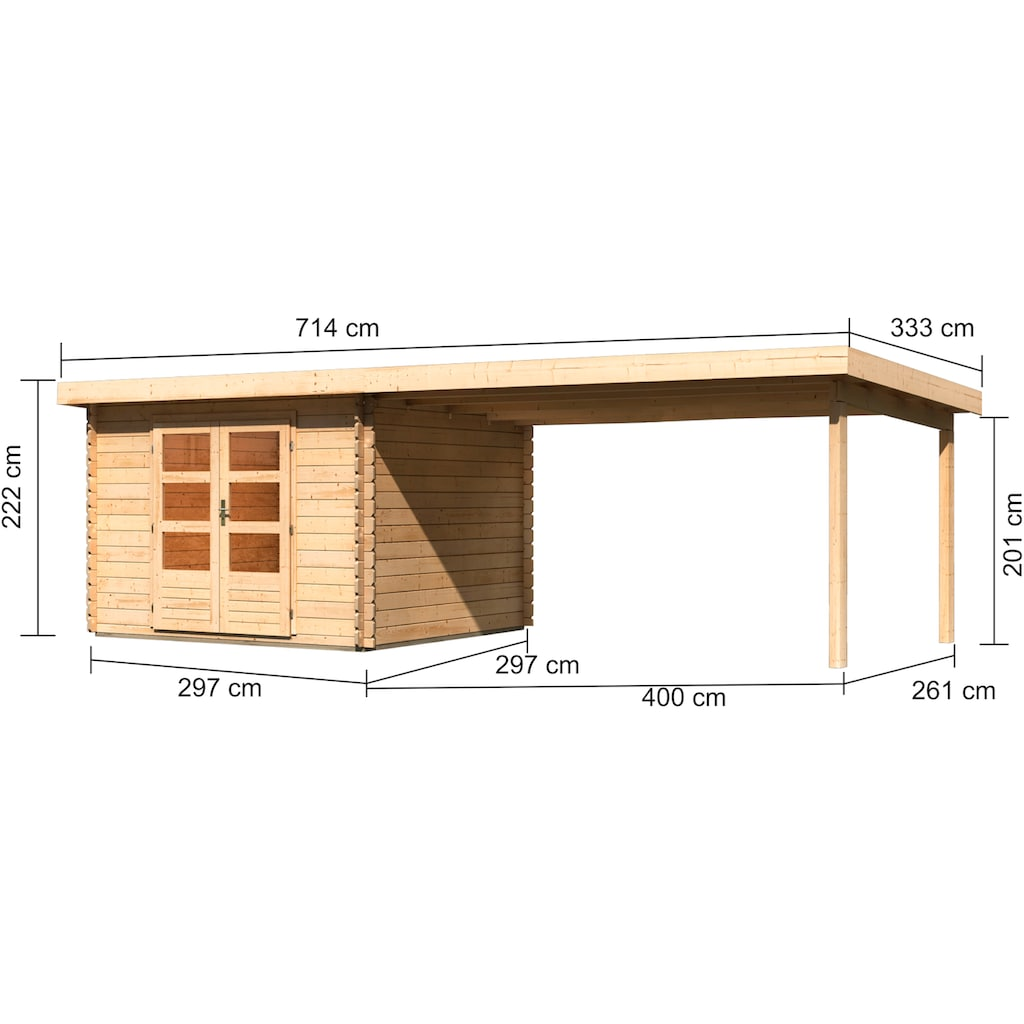 KONIFERA Gartenhaus »Schloßsee 5«